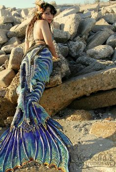 beautiful sea dragon mermaid tail merbella studios