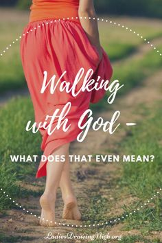Evidently walking with God is a huge deal. For if Noah hadn't walked with God, we wouldn't be here today! But what does that even mean…to walk with God? Click through to learn how you, too, can walk with the God of Heaven and earth! | Walking with God | Bible study Genesis | Ladies Bible study |