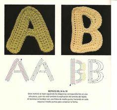 Letras tejidas en crochet ~ cositasconmesh