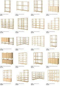 58 Ideas for ikea storage ivar shelving systems