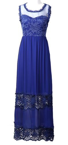 love this dress. If royal blue is your color, this would be gorgeous.