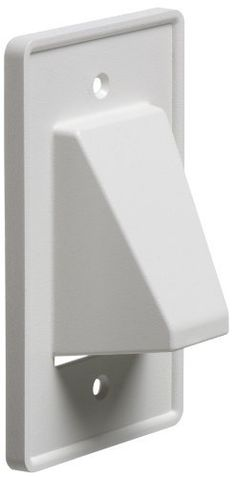 Arlington CE1-1 Recessed Cable Wall Plate, 1-Gang, White by Arlington Industries. $3.36. From the Manufacturer                Arlington CE1-1 Reversible Single Gang Entrance Plate.  Try Arlington's The Scoop, CE1-1, Reversible non-metallic, single gang entrance hood.  They not only protect cable, but deliver good looks and installation versatility.                                    Product Description                Arlington CE1-1 Recessed Low Voltage Cable Plate, 1-Gang,...