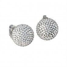 crystal pavé ball clip earring