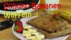 Schokowaffeln mit Banane - Rezept von Lila Kuchen Waffles, Breakfast, Banana Waffles, Recipes With Bananas, Finger Food, Bakken, Purple Cakes, Thermomix, Morning Coffee