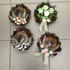 Cemetery Decorations, Funeral Flowers, Grapevine Wreath, Grape Vines, Floral Wreath, November, Christmas Decorations, Wreaths, Handmade