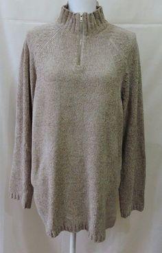 Jennifer Moore Women 1/2 Zip Sweater Size XL #JenniferMoore #12Zip
