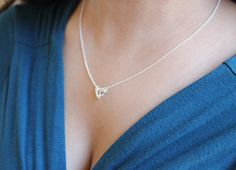 """Dainty & Dazzling Open Diamond Cutout 3D Pendant Necklace on 16"""" or 18"""" Chain + lobster clasp, 18k Gold Plated or Silver Plated Finish"""