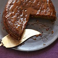 Toffee cake...add caramel syrup.....ice  cream.....whipped cream.....