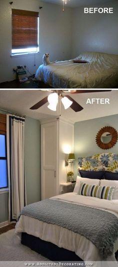 Doppelbett Designs für kleine Zimmer  #designs #doppelbett #kleine #schlafzimmerideen #zimmer