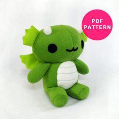 Plush Dragon Stuffed Animal Pattern by PlushPatternShop on Etsy