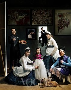 A different take on Diego Velázquez' famed painting Las Meninas (Maids of Honour, from 1656), from The Look: Vogue Korea January 2013