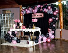 Birthday Party Design, Birthday Party Decorations, Party Themes, Birthday Parties, Bts Happy Birthday, 10th Birthday, Birthday Cake, Black Pink Songs, Black Pink Kpop