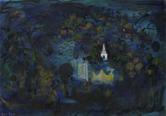 ✦  john piper  -   'stanway, gloucestershire'  -  gouache and ink