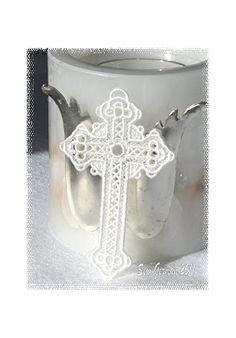 lace cross bible bookmark