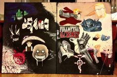 Finished Fullmetal Alchemist collage painting 5/2013