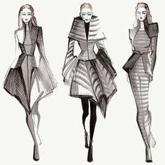 Fashion illustration sketches, fashion design sketches, illustration art, g Moda Fashion, Fashion Art, New Fashion, Trendy Fashion, Fashion Ideas, London Fashion, Street Fashion, Illustration Mode, Fashion Illustration Sketches