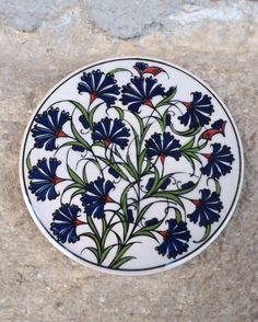 Turkish Ceramic Coasters / Ceramic Tile Coaster by Turqu50 on Etsy