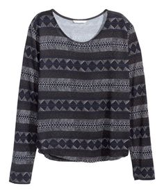 Long-sleeved top   Product Detail   H&M