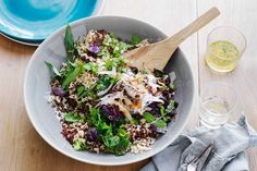 Filled with quinoa and brown rice, this nutritious salad is easy enough to make as a side for weekend entertaining or as a standalone meal during the week.