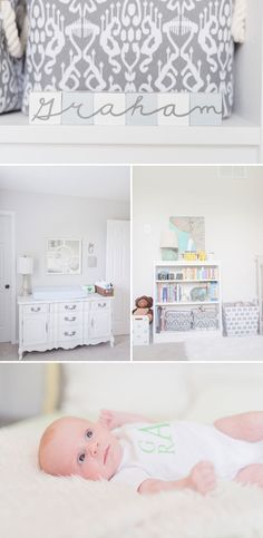 Absolutely love this light and airy little boy's nursery room!  #newborn #nursery #beyondthewedding  Blue, Bright, & Airy Modern Nursery Shoot • Bummed Bride