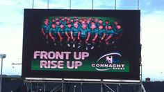 Connacht Rugby is celebrating their first Heineken Cup campaign with the installation of a new Video Scoreboard