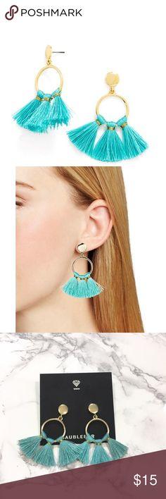 BaubleBar Earrings BaubleBar blue tassel earrings. Lightly used.                        •n o  t r a d e s• •s m o k e  f r e e / p e t  f r e e  h o m e•   •s a m e / n e x t  d a y  s h i p p i n g• baublebar Jewelry Earrings