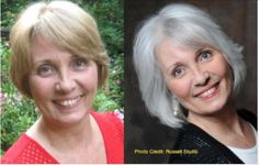Going gray gracefully. #before-after. Joy Overstreet, Portland's personal color analyst, ColorStylePDX.com.