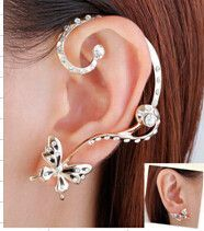 Retail Butterfly Ear Cuff earrings Free Shipping New Fashion Punk Personality High Quality set ear clips Earring YS-C-C4