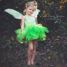 DELUXE TINKERBELL DISNEY INSPIRED FAIRY COSTUME INCLUDES: ~ Deluxe Tutu Dress ~ Full Layered Tutu ~ Built in Satin Petticoat ~ Fully Lined for Softness ~ Handmade to Order in a custom size WINGS NO LONGER AVAILABLE *MATCHING VELVET LEGGINGS are also available in our Etsy shop!*