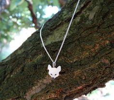 Collar plata zorro / Collar plata / Collar zorro / Colgante plata zorro / Charm zorro / Collar plata zorrito / Collar fox / Collar fox plata de SplashJewel en Etsy