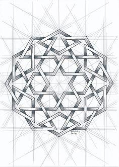Islamic Art Pattern, Arabic Pattern, Geometry Pattern, Geometry Art, Pattern Art, Sacred Geometry, Geometric Designs, Geometric Shapes, Geometric Wall