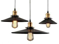 Industrial Black Pendant Light Vintage                              …
