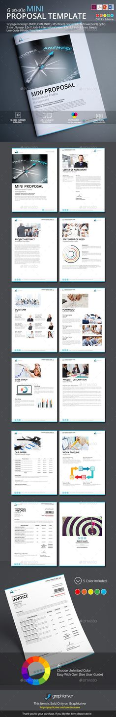Proposal Proposals, Proposal templates and Adobe indesign - it services proposal template