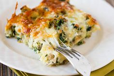 Cheesy Sausage Spinach Breakfast Casserole.