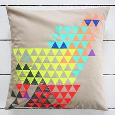 Silk screen printed cushion from by.bak Interior