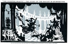 Shadow Puppet / Silhouette / Vector style art - Sleeping Beauty by Lotte Reiniger