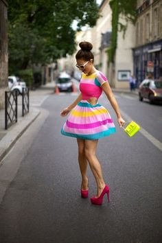 rainbowlipglosses:    This Is Such A Cute and Classy Dress! I Mean The Colors Are Playful and The Heels Is A Master Piece! Will You Say No To This Dress? I Don't Think So :)