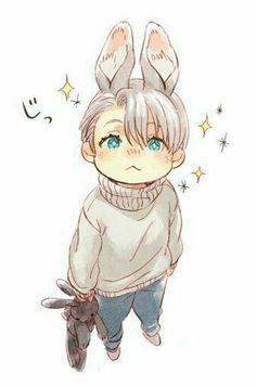 Afbeeldingsresultaat voor yuri on ice victor Anime Chibi, Me Anime, Anime Guys, Yuri!!! On Ice, Cute Chibi, Anime Fantasy, Boy Art, Cute Drawings, Cute Art