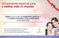 Divulgação de uma promoção para o dia das mães pela Clínica Organique!