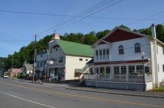 Storefronts in Windham, NY. Catskill Mountains, Store Fronts, Sweet Home, Cabin, Mansions, House Styles, Places, Happy, Travel