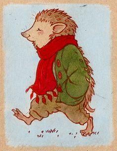 Strolling Hedgehog (deviantART: ~luve)