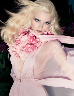 abbey lee kershaw by solve sundsbo for gucci 'flora' fragrance...