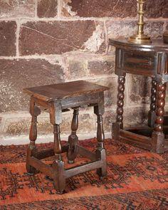 17th century oak joint stool, Marhamchurch antiques