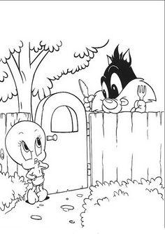 Baby Looney Tunes Målarbilder för barn. Teckningar online till skriv ut. Nº 62