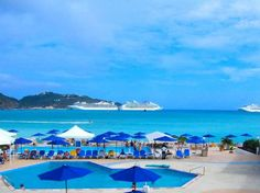 Sonesta Great Bay Beach Resort & Casino in St. Maarten. Four-star property with three swimming pools, three restaurants, four bars, fitness center, Golden Casino and water sports center. Oh and did I mention it's located on a one-mile stretch of soft white beach?