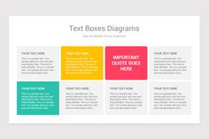 Steps Process With Text Boxes PowerPoint Diagrams is a professional Collection shapes design and pre-designed template that you can download and use in your PowerPoint. The template contains 20 slides you can easily change colors, themes, text, and shape sizes with formatting and design options available in PowerPoint. Be Yourself Quotes, Color Change, Boxes, Diagram, Shapes, Templates, Colors, Collection, Design