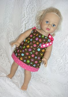 """Owl Print Pillowcase Dress for American Girl and other 18"""" Dolls, Madame Alexander, Journey Girls, etc."""