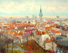 A series the Bratislava streets #2 - Michael Brovkin - Russian Fine Art