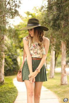 FashionCoolture - 18.08.2015 look du jour Displicent Amaro floral button-front A-line skirt  (2)