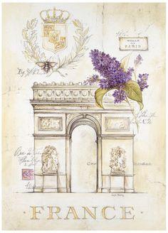 Arc de Triomphe Lilacs Lámina